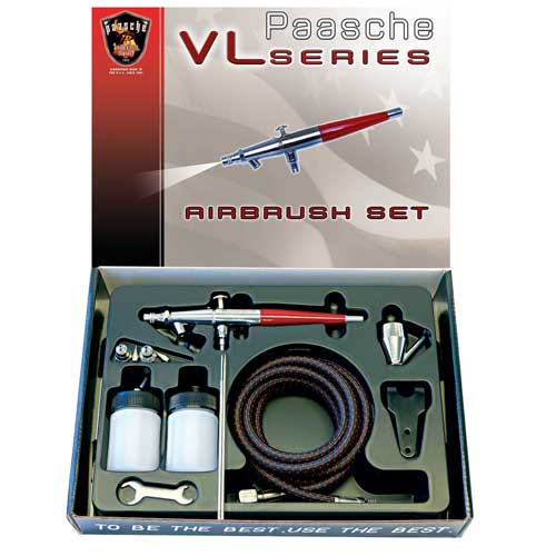 Paasche Double Action Siphon Feed Airbrush Set(.55, .74 & 1.06mm) - VL-SET