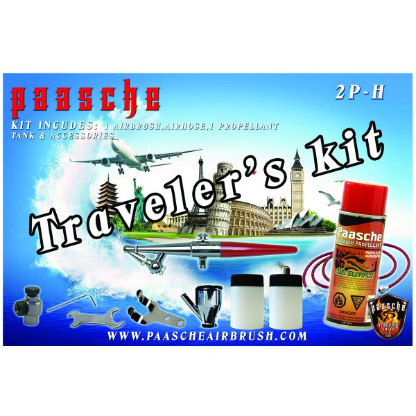 Paasche Airbrush Paasche Model 2P-H Single Action Airbrush Traveler's Kit