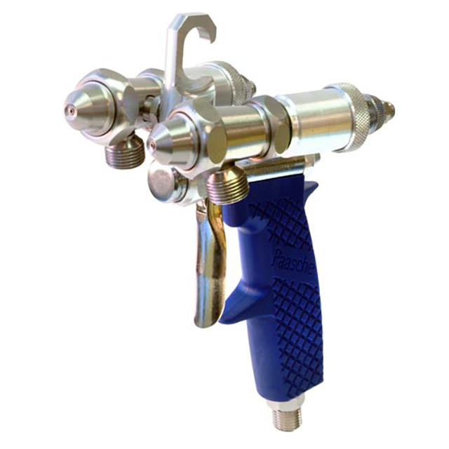 Paasche Airbrush Paasche Silvering Gun with Handle in Center of Two Spray Heads