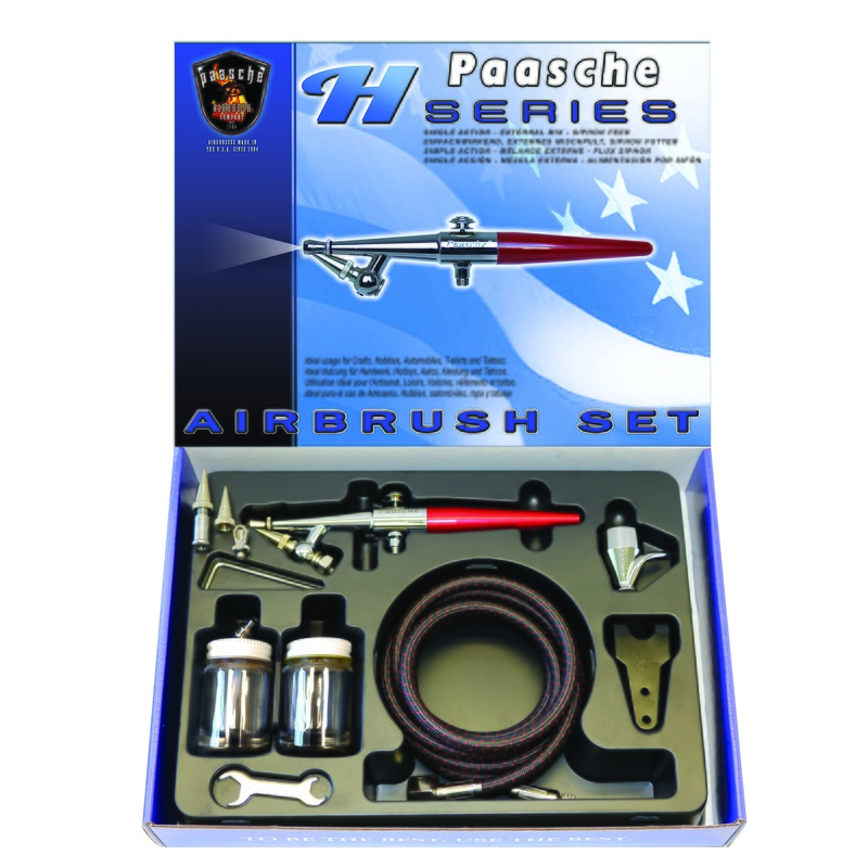 Paasche Airbrush Paasche Model HS-202S Single Action Airbrush Set with Metal Handle