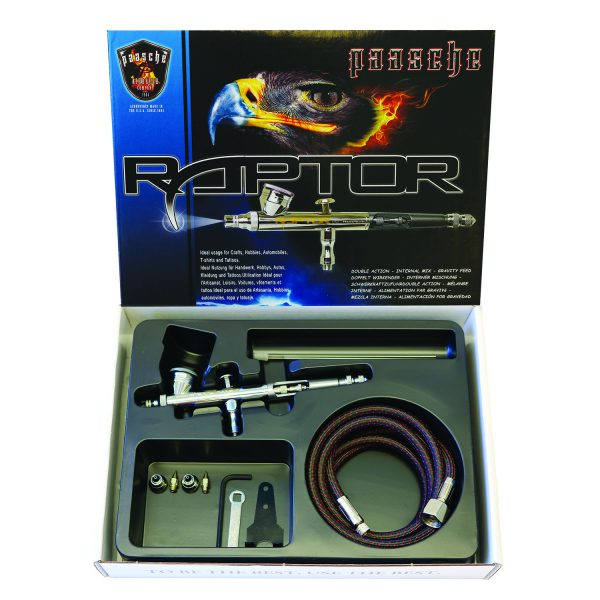 Paasche Airbrush Paasche Raptor Double Action Gravity Feed Airbrush Set - RG-3S