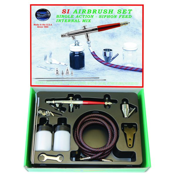 Paasche Airbrush Paasche SI-SET Single Action Internal Mix Airbrush Set