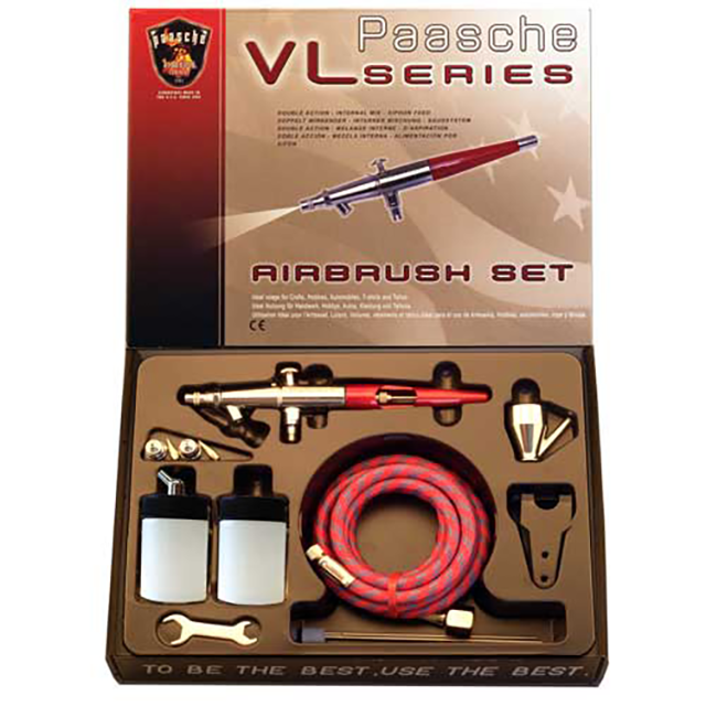 Paasche Airbrush Paasche Model VL-202S Airbrush with Metal Handle-Set