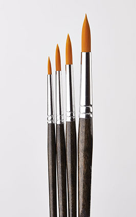 Donna Dewberry 4 Piece Round Brush Set