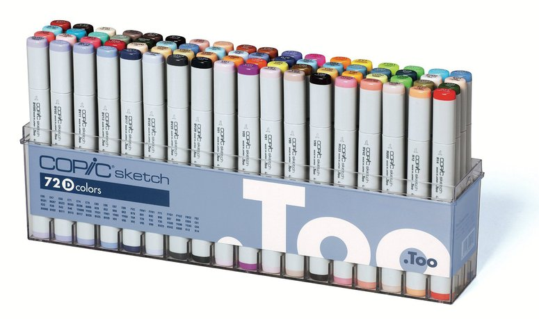 Copic Sketch Marker: 72-Color Set D