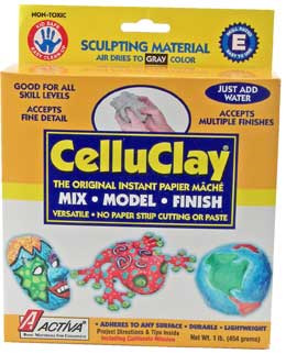 Celluclay Instant Paper Maché: Gray, 1 lb Package