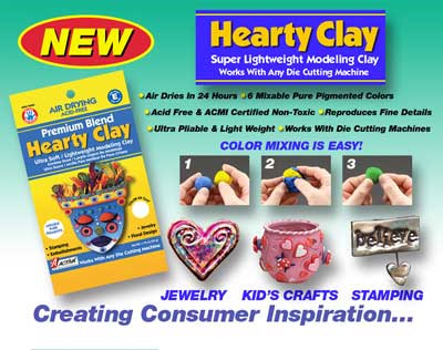 Hearty Clay 1.75 oz Package: White