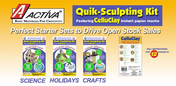 Activa Celluclay Quik Sculpt Value Pack, Pack of 4