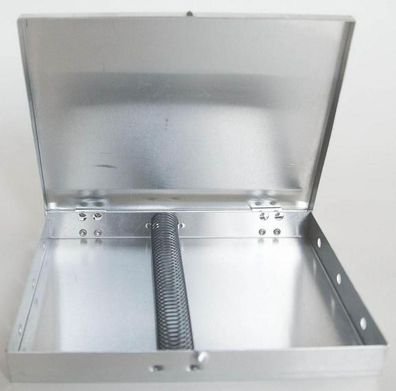 "Mack Metal Brush Box 5"" x 14"" with Spring"
