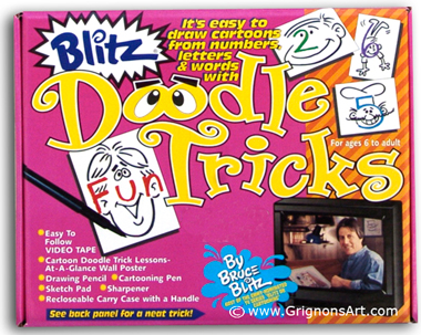 Bruce Blitz VHS Doodle Tricks Set - with 1 Hour DVD