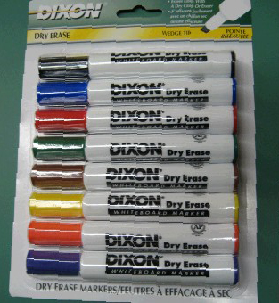 Beka Dixon Whiteboard Markers: 8 Color Set