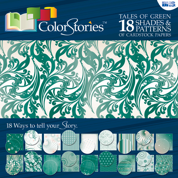 Blue Hills Studio™ ColorStories™ 12 x 12 Paper Pack Green