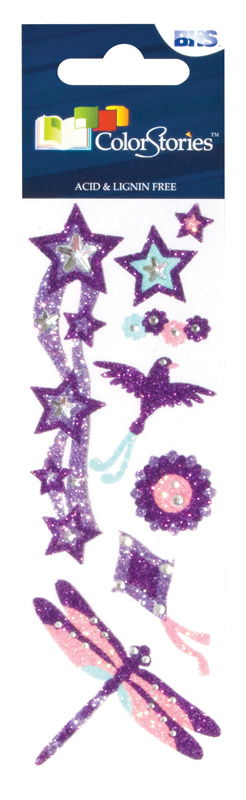 Blue Hills Studio™ ColorStories™ Glitter Bling Stickers Purple