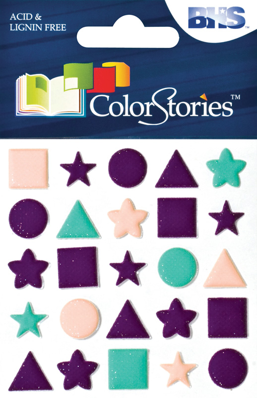 Blue Hills Studio™ ColorStories™ Puffy Mesh Stickers Purple