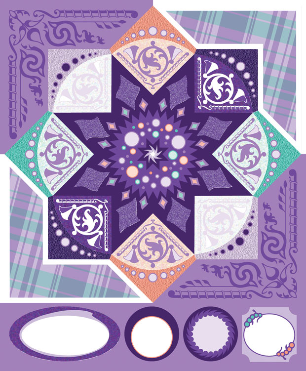 Blue Hills Studio ColorStories Cardstock Stickers: Purple