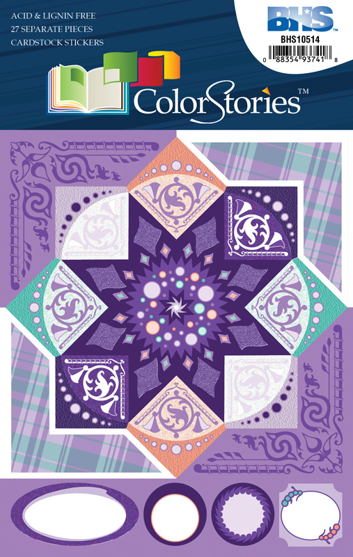 Blue Hills Studio™ ColorStories™ Cardstock Stickers Purple