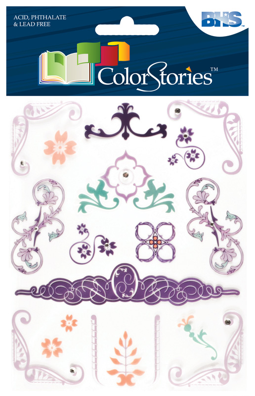 Blue Hills Studio™ ColorStories™ Rub-Ons with Bling Purple