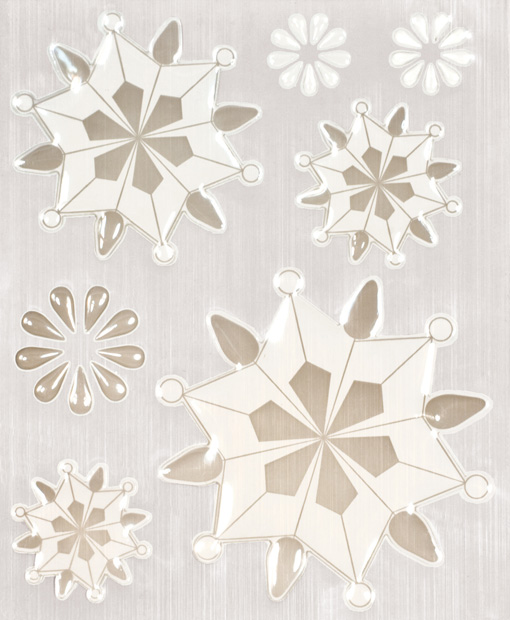 Blue Hills Studio ColorStories Epoxy Snowflower Stickers: White