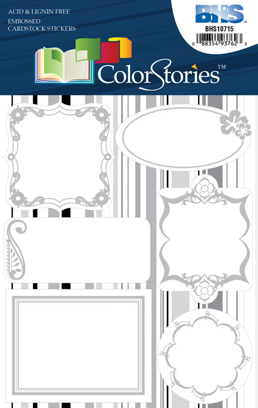 Blue Hills Studio™ ColorStories™ Embossed Cardstock Stickers White