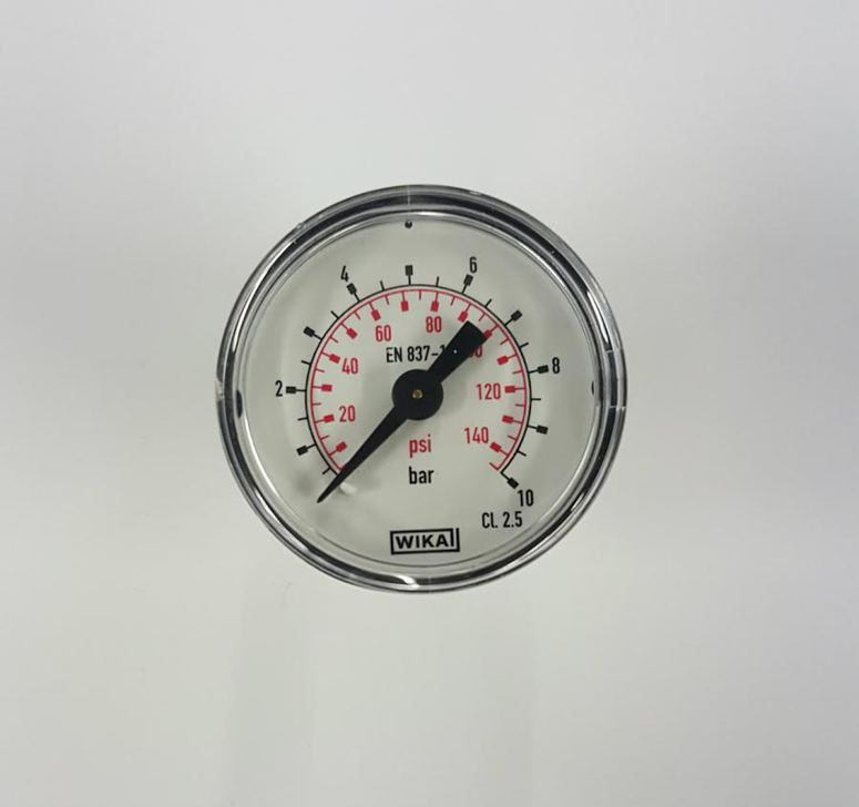 "Silentaire Rear-mounted Pressure Gauge: 1/8"" NPT"
