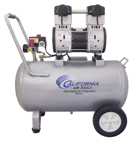 California Air Tools 15020C Air Compressor: 2.0 HP, 15.0 Gal. Steel Tank, Ultra Quiet, Oil-Free, Powerful