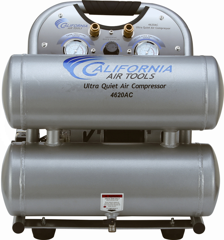 CAT 4620AC Air Compressor: 2.0 HP, 4.6 Gal. Aluminum Tank, Ultra Quiet, Oil-Free: (Airbrushing, Tattooing, Industry, Medical)