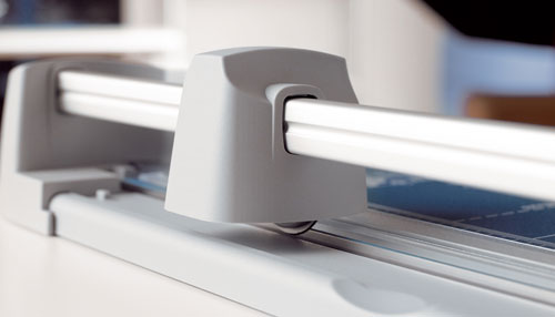 Dahle Personal Trimmers feature a ground self-sharpening rotary blade that cuts in either direction