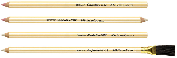 Faber-Castell 7057 Perfection Eraser Pencil: Pack of 12