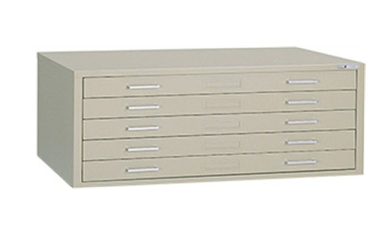 "Mayline C-File: 5 Drawers, Sand, 53 3/4""W x 41 3/8""D x 15 3/8""H"