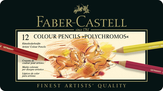 Polychromos Artists Colour Pencil: Tin of 12
