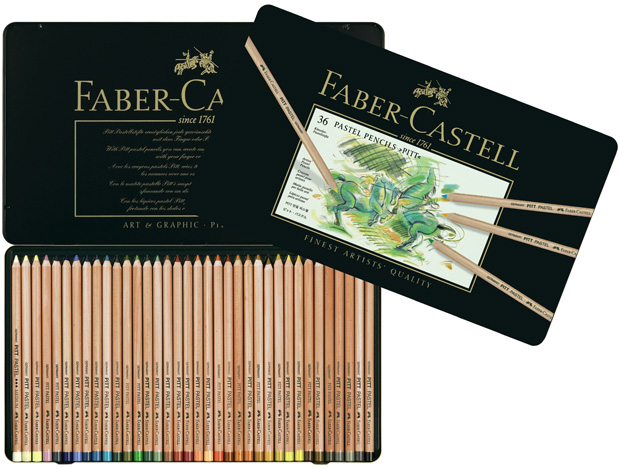 Faber-Castell PITT Pastel Pencil: Tin of 36