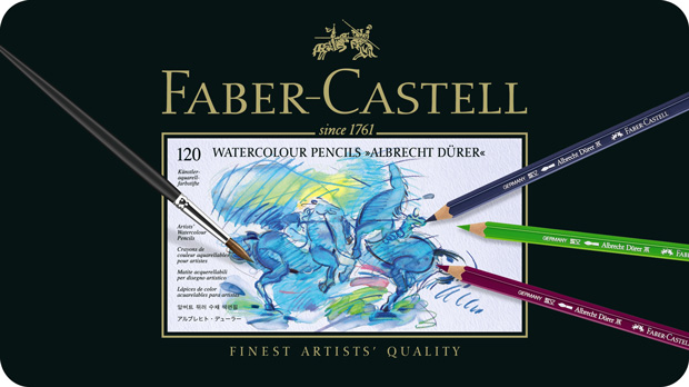 Faber-Castell Albrecht Durer Artists\' Watercolour Pencil: Tin of 120 with CD Rom