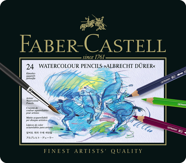 Faber-Castell Albrecht Durer Artists\' Watercolour Pencil: Tin of 24