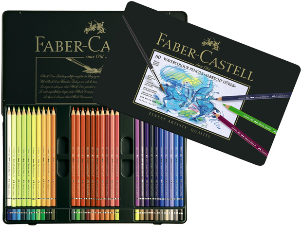 Faber-Castell Albrecht Durer Artists\' Watercolour Pencil: Tin of 60