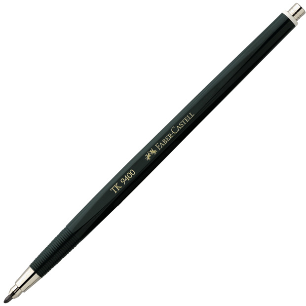 Faber-Castell TK 9400 Clutch Pencil Without Hardness Marking, with 2 mm HB Lead
