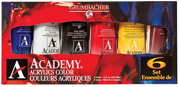 Grumbacher Academy® Acrylic Paint 6-Color Set