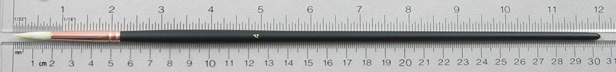 Chungking Hog Bristle 1300 Round # 4 Brush: Full Length Shot with Rulers
