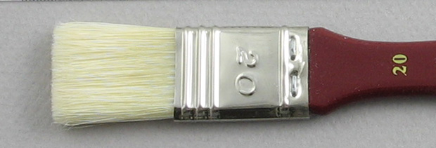 Hog Bristle Series 200: Wide Flat Size 20 Brush