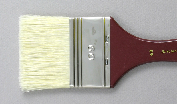 Hog Bristle 200 Wide Flat # 60 Brush: Head Shot
