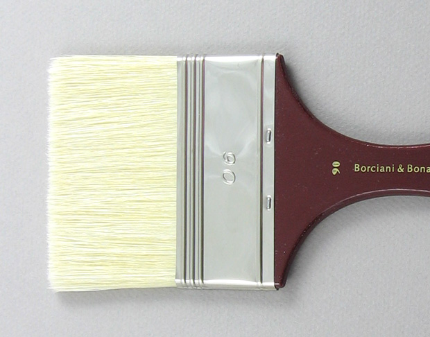 Hog Bristle 200 Wide Flat # 90 Brush: Head Shot