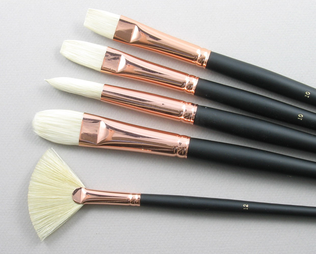 Trinity Brush Bodarevsky Set of 5 Hog Bristle Art Brushes