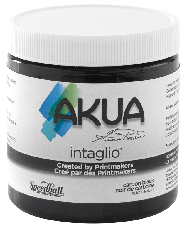 Akua Intaglio Printmaking Ink:Carbon Black 8oz