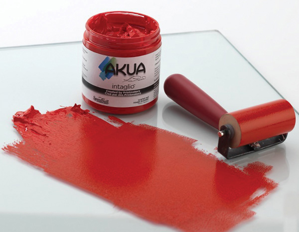 Akua Intaglio™ Printmaking Ink 8oz Scarlet Red