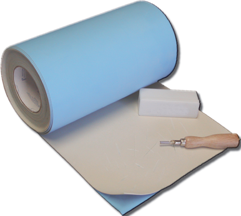 "Inovart Impress Synthetic Linoleum 1/8"" Thick With A Repositionable Adhesive Backing - Roll 12"" x 30' - 2 per pack"