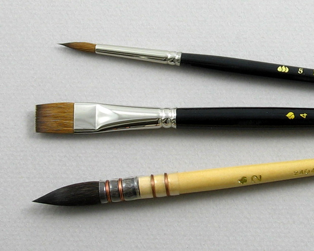 Apprentice Set of 3 Art Brushes: Head Shot