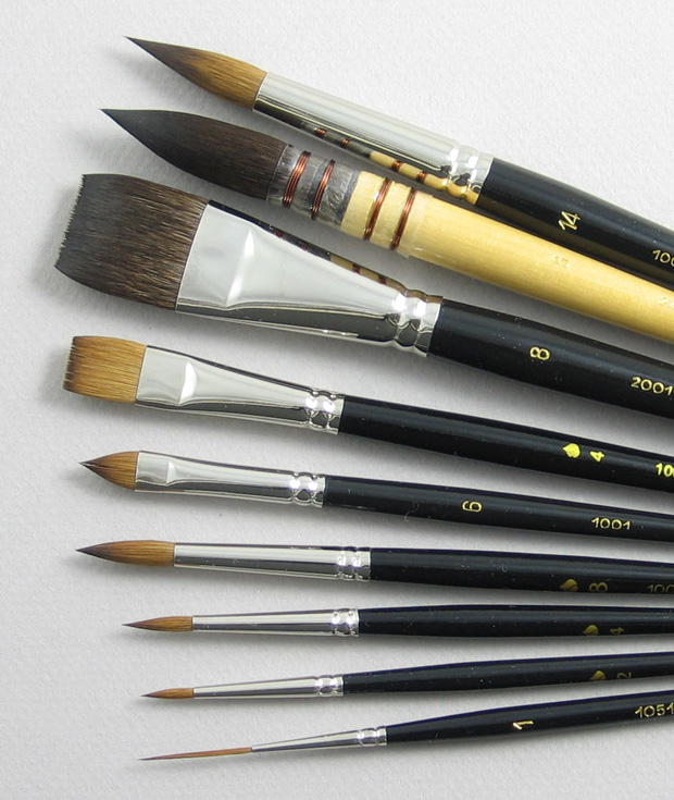 Inspiration Set of 9 Art Brushes: Head Shot