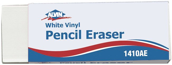 Alvin White Vinyl Pencil Erasers 20/Box