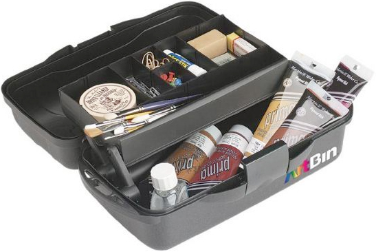 Alvin Artbin® One Tray Art Bins Matte Black