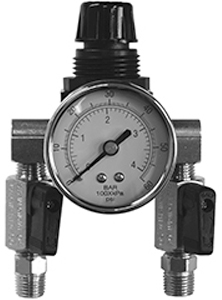 "Paasche 60# Gauge, (1) 1/4"" Outlet, (1) 1/4"" Inlet"