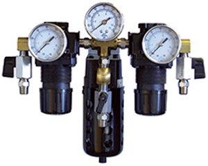 Paasche Two Regulators With Gauges, Line Gauge With 12M Moisture Condenser